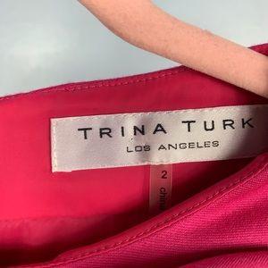 Trina Turk Dresses - Trina Turk Pink Sheath Dress with Flower EUC